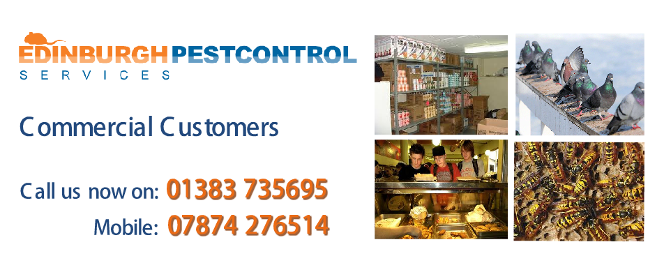 pest control edinburgh Commercial Customers